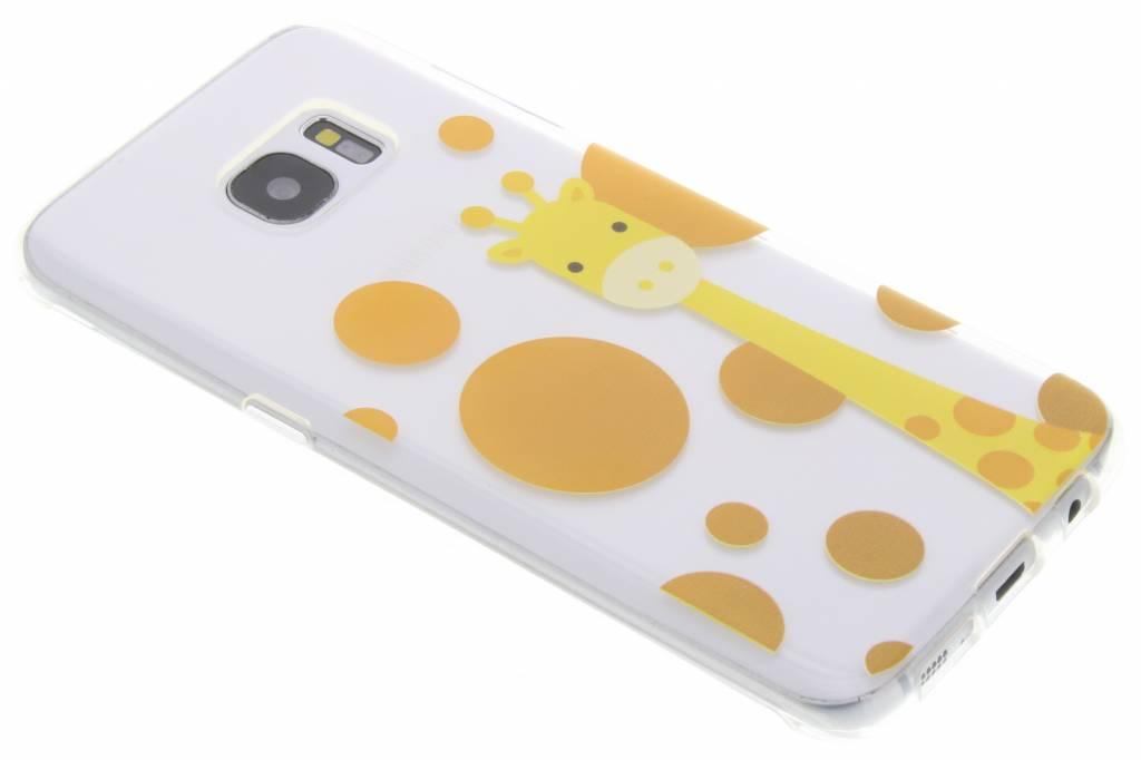 Giraffe Zoo TPU siliconen hoesje voor de Samsung Galaxy S7 Edge