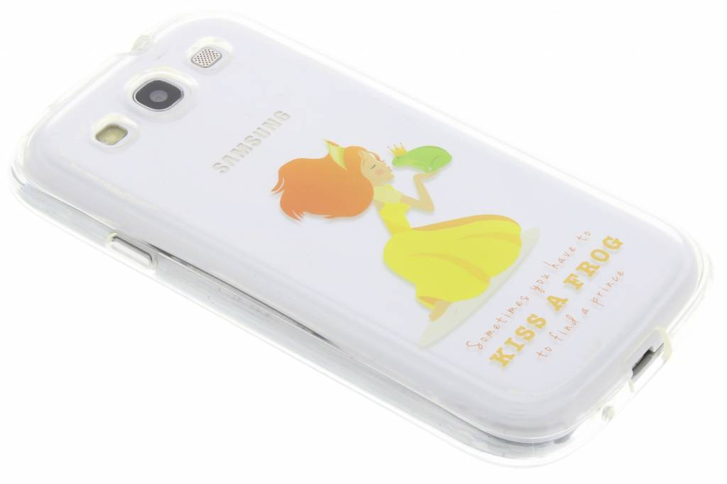 Kiss a frog Sprookjes TPU siliconen hoesje voor de Samsung Galaxy S3 / Neo