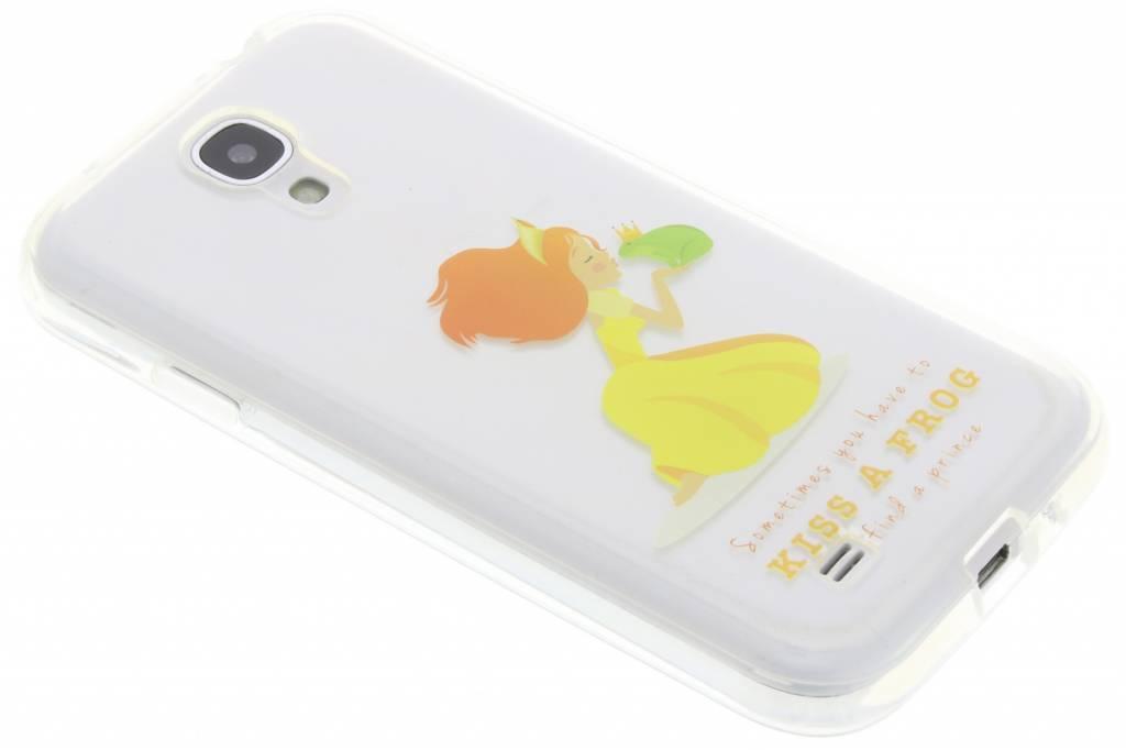 Kiss a frog sprookjes TPU siliconen hoesje voor de Samsung Galaxy S4