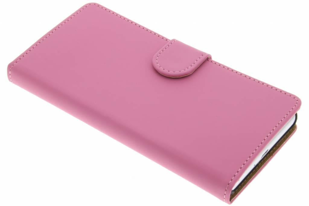 Roze effen booktype hoes voor de Sony Xperia X Performance