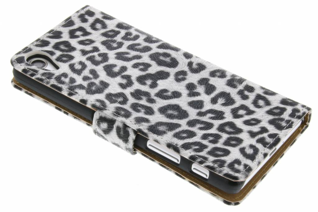 Witte luipaard booktype hoes voor de Sony Xperia X Performance