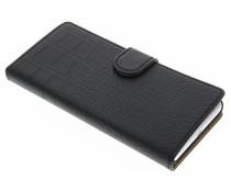 Zwart krokodil booktype hoes Sony Xperia X Performance