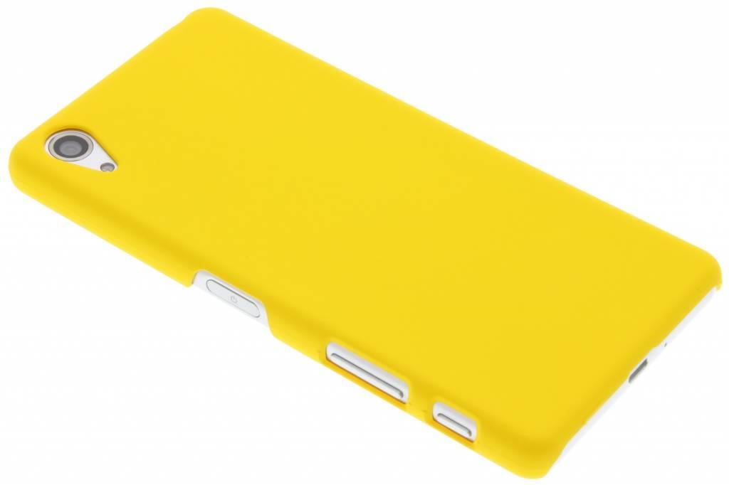 Geel effen hardcase hoesje voor de Sony Xperia X Performance