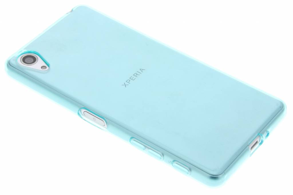 Turquoise transparante gel case voor de Sony Xperia X Performance