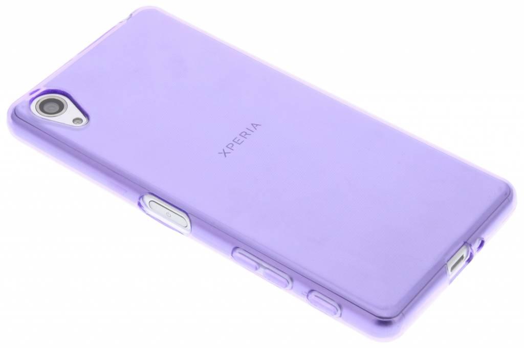 Paarse transparante gel case voor de Sony Xperia X Performance