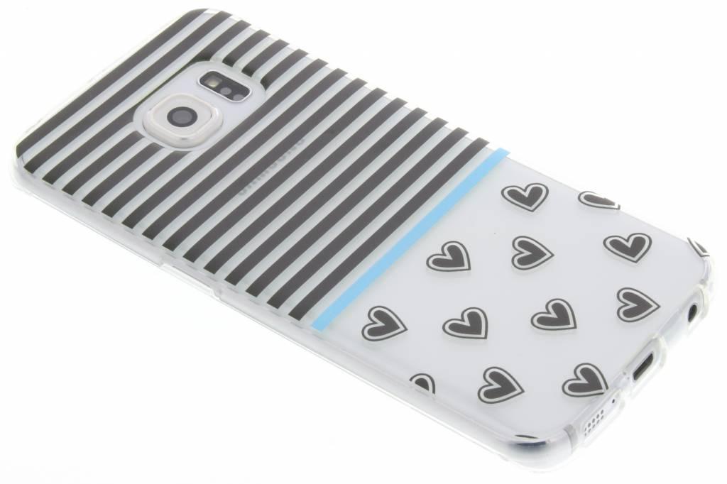 Streep design TPU siliconen hoesje voor de Samsung Galaxy S6 Edge