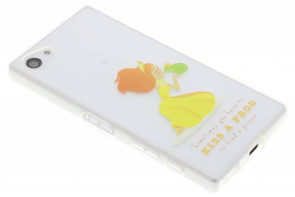 Embrasser Un Conte De Fées De Grenouille Étui En Silicone Tpu Pour Le Z5 De Sony Xperia Compact ODwtZvU9