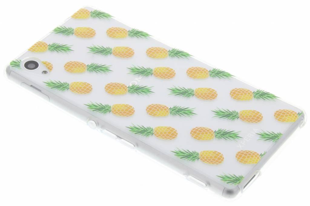 Transparant kleine ananasjes design TPU hoesje voor de Sony Xperia M4 (Aqua)
