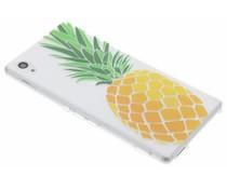 Transparant fruit design TPU hoesje Sony Xperia M4 (Aqua)