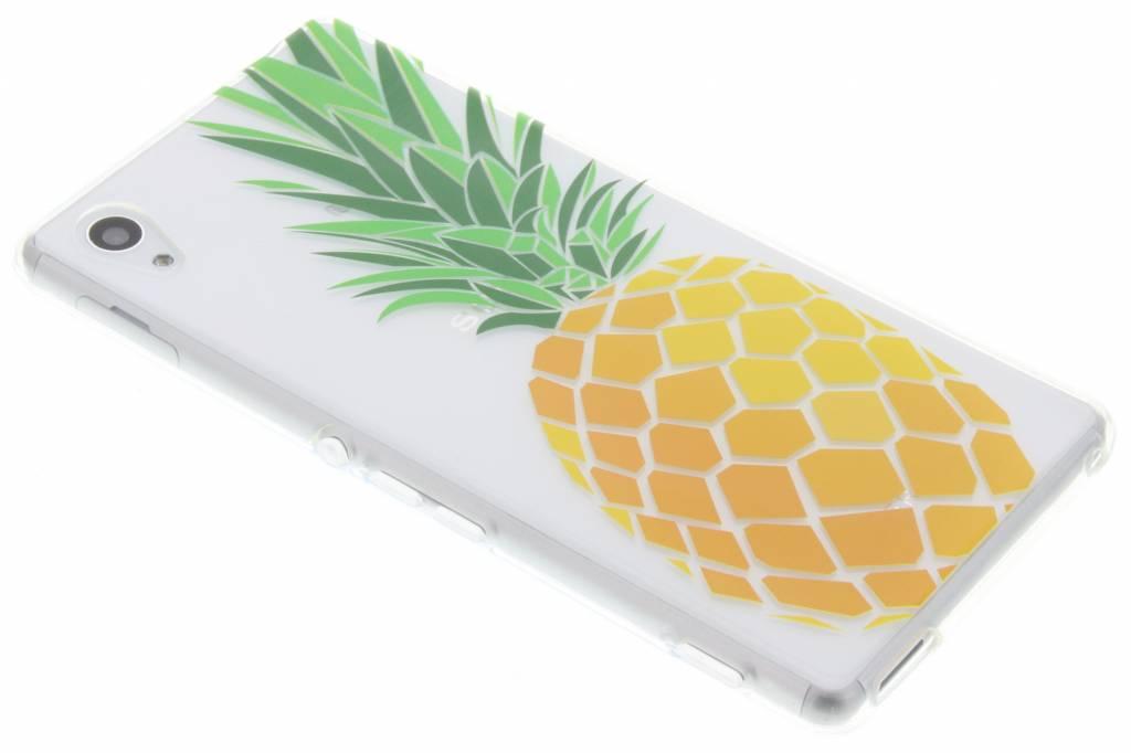 Transparant ananas design TPU hoesje voor de Sony Xperia M4 (Aqua)