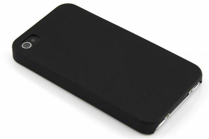 Zwarte effen hardcase voor de iPhone 4 / 4s