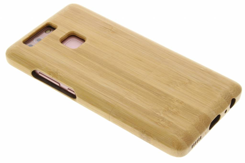 Lichtbruin echt houten hardcase hoesje voor de Huawei P9