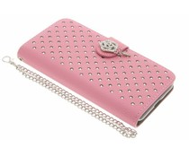 Chique strass booktype hoes Samsung Galaxy J3 / J3 (2016)