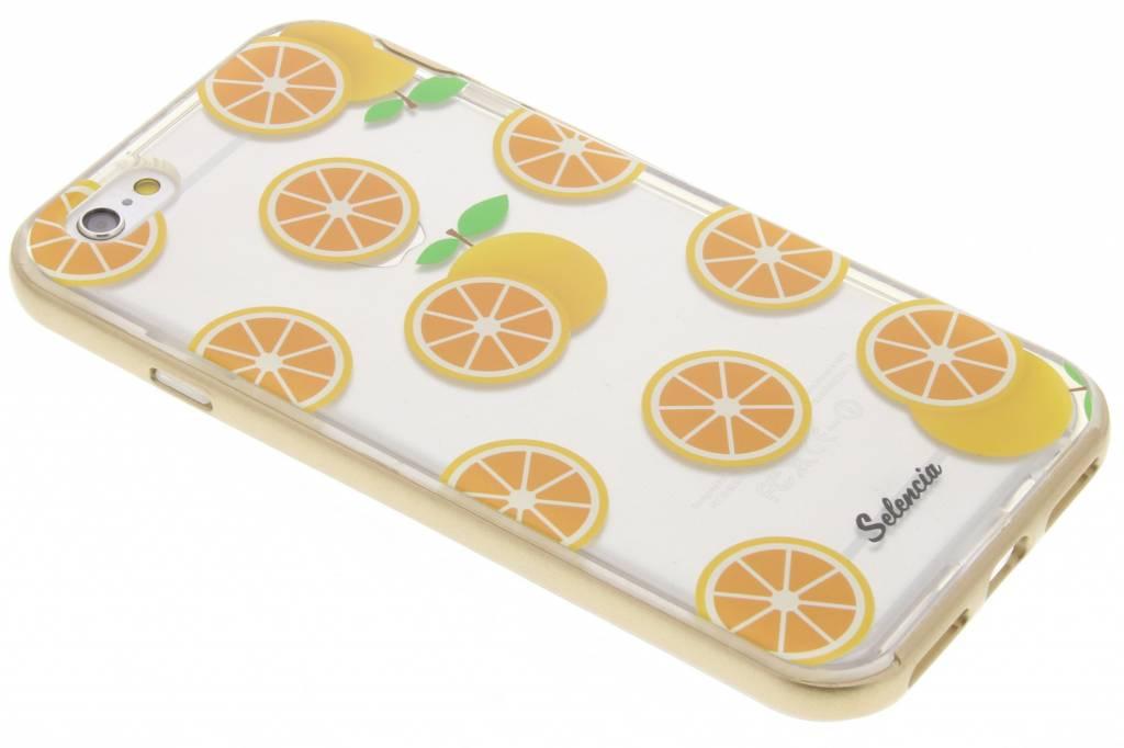 Selencia Foodies Orange TPU hoesje voor de iPhone 6 / 6s