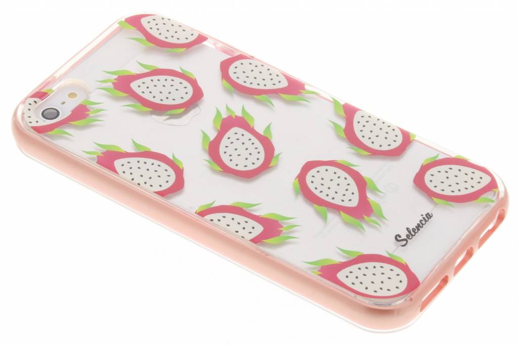 Selencia Foodies Dragon Fruit TPU hoesje voor de iPhone 5 / 5s / SE