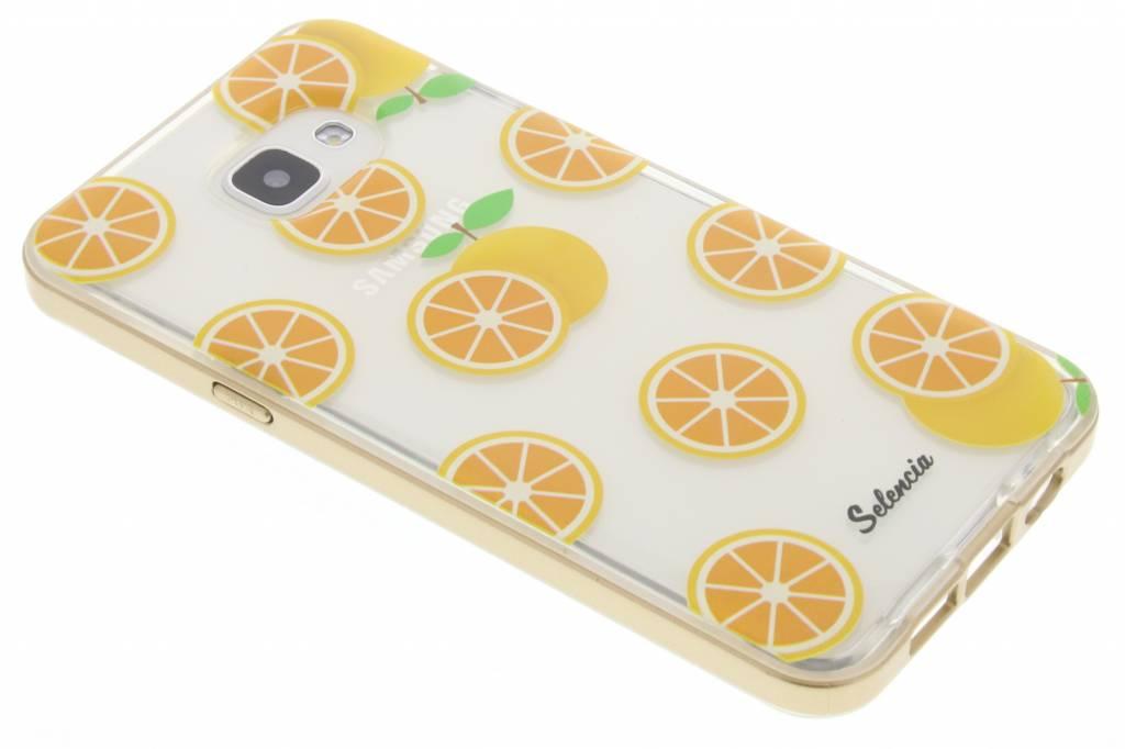 Selencia Foodies Orange TPU hoesje voor de Samsung Galaxy A5 (2016)