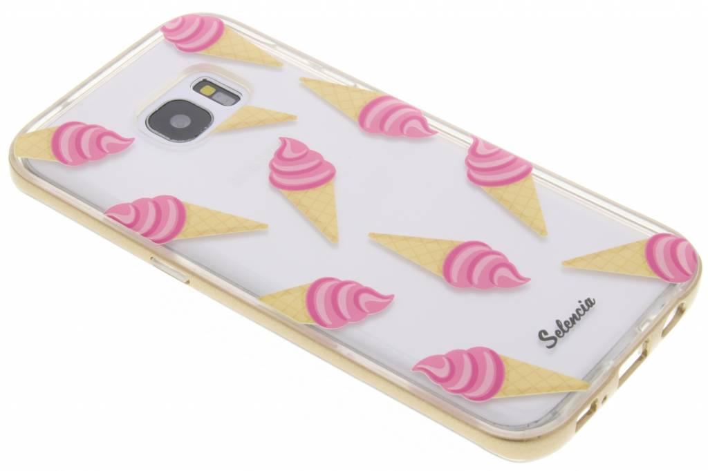 Selencia Foodies Icecream TPU hoesje voor de Samsung Galaxy S7 Edge