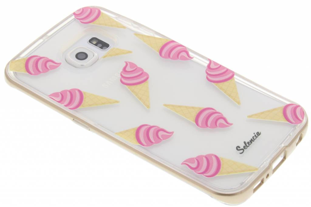 Selencia Foodies Icecream TPU hoesje voor de Samsung Galaxy S6 Edge