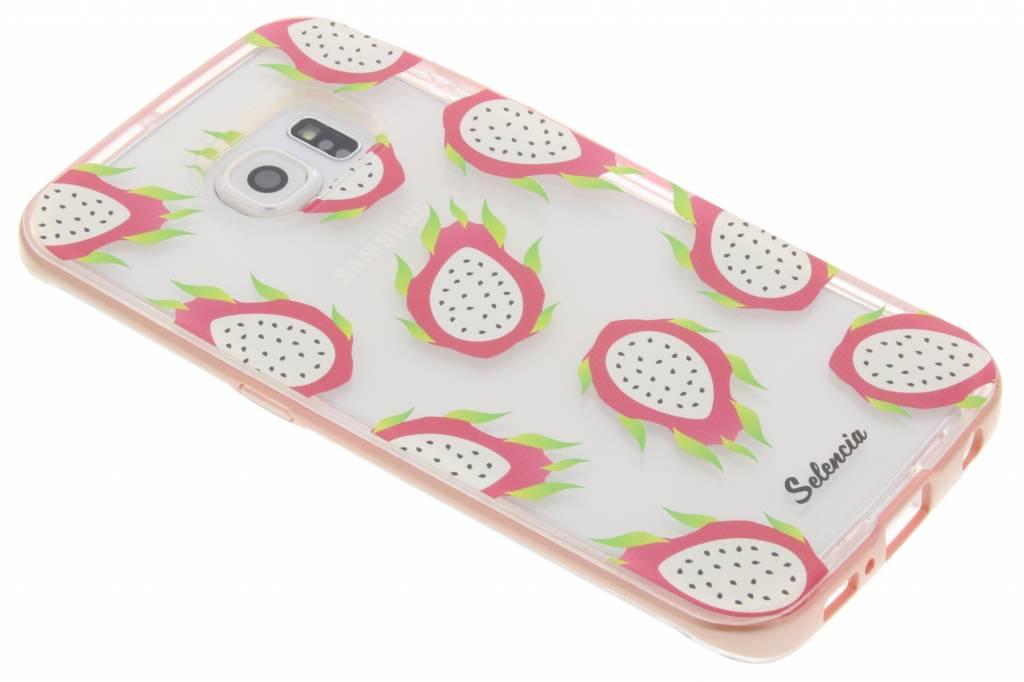 Selencia Foodies Dragon Fruit TPU hoesje voor de Samsung Galaxy S6 Edge