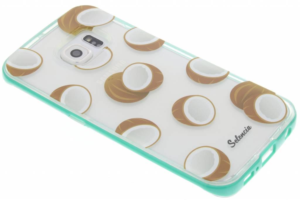 Selencia Foodies Coconuts TPU hoesje voor de Samsung Galaxy S6 Edge