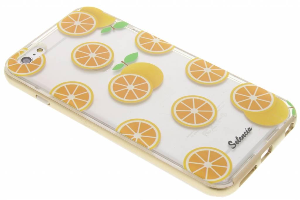 Selencia Foodies Orange TPU hoesje voor de iPhone 6(s) Plus