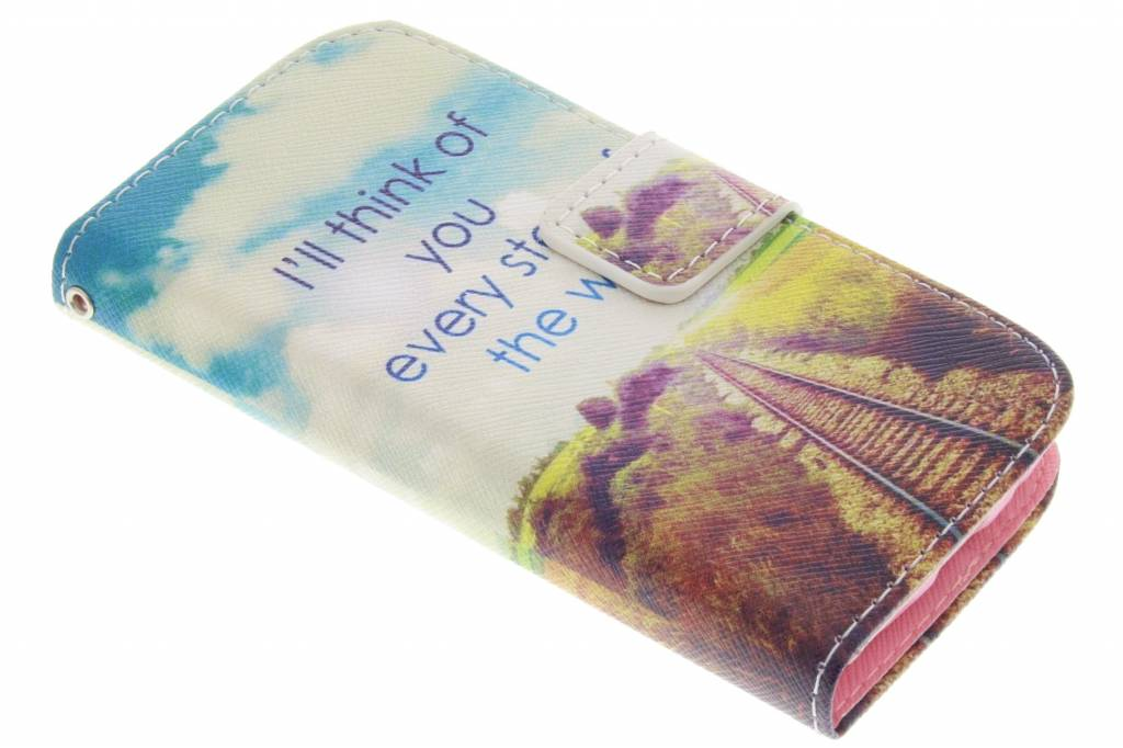 Think of you design TPU booktype voor de Samsung Galaxy S4 Mini