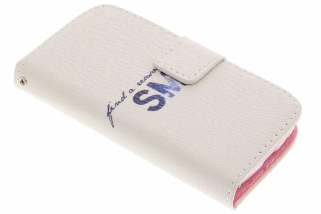 Smile design TPU booktype voor de Samsung Galaxy S4 Mini