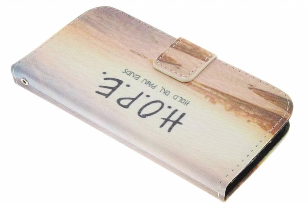 Hope design TPU booktype hoes voor de Samsung Galaxy S4