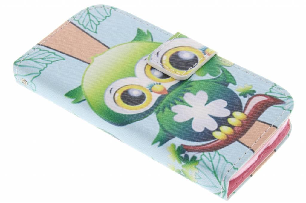 Uil design TPU booktype hoes voor de Samsung Galaxy S4 Mini