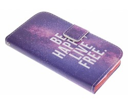 Design TPU booktype hoes Samsung Galaxy S4