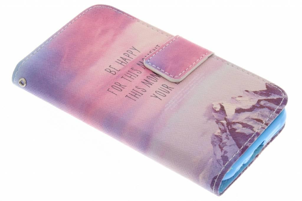 Be happy design TPU booktype hoes voor de Samsung Galaxy J1