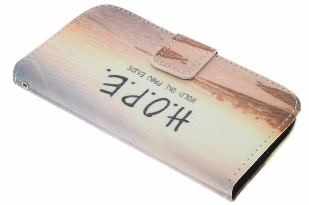 Hope design TPU booktype hoes voor de Samsung Galaxy J1