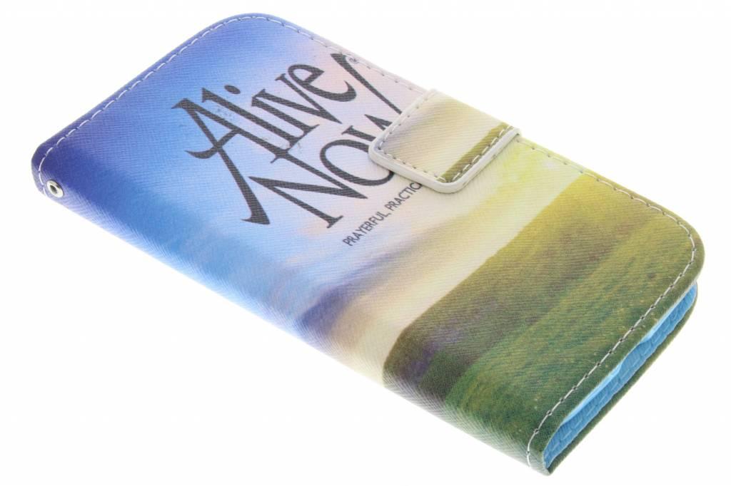 Alive now design TPU booktype hoes voor de Samsung Galaxy S4