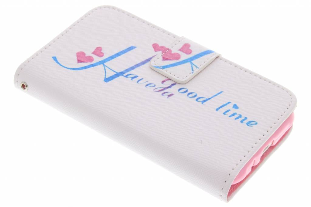 Have a good time design TPU booktype hoes voor de Samsung Galaxy J1