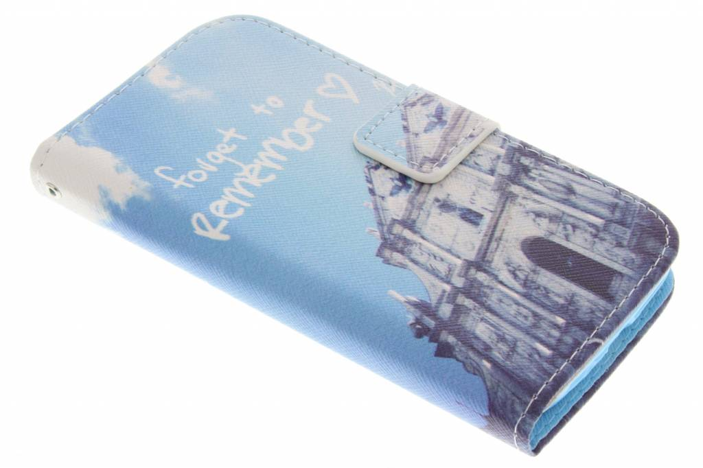 Forget to remember design TPU booktype hoes voor de Samsung Galaxy S4