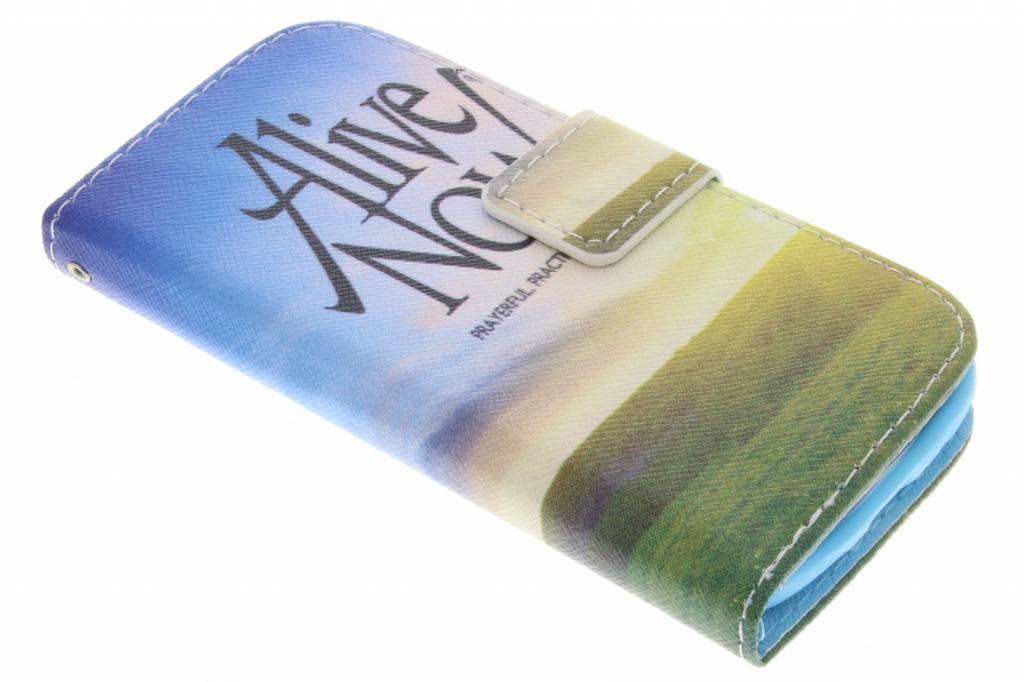 Alive now design TPU booktype hoes voor de Samsung Galaxy Ace 4