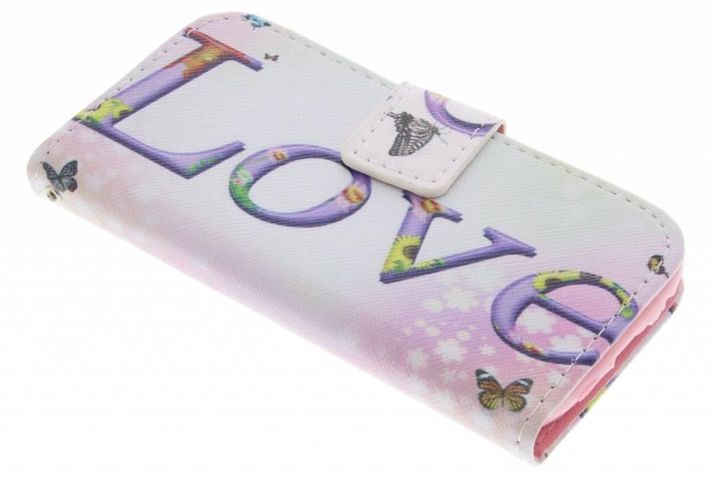 Love design TPU booktype hoes voor de Samsung Galaxy Ace 4