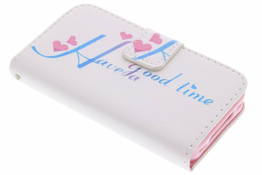 Have a good time design TPU booktype hoes voor de iPhone 4 / 4s