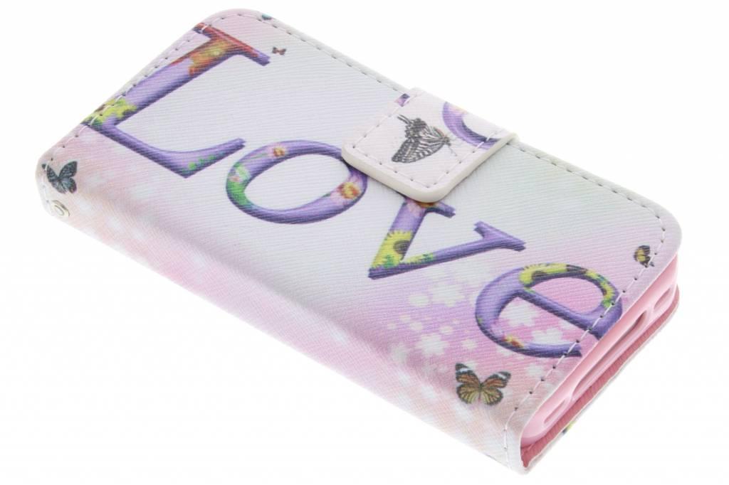 Love design TPU booktype hoes voor de iPhone 4 / 4s