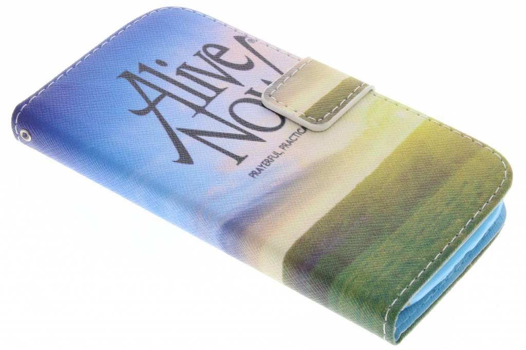 Alive now design TPU booktype hoes voor de Samsung Galaxy S3 / Neo