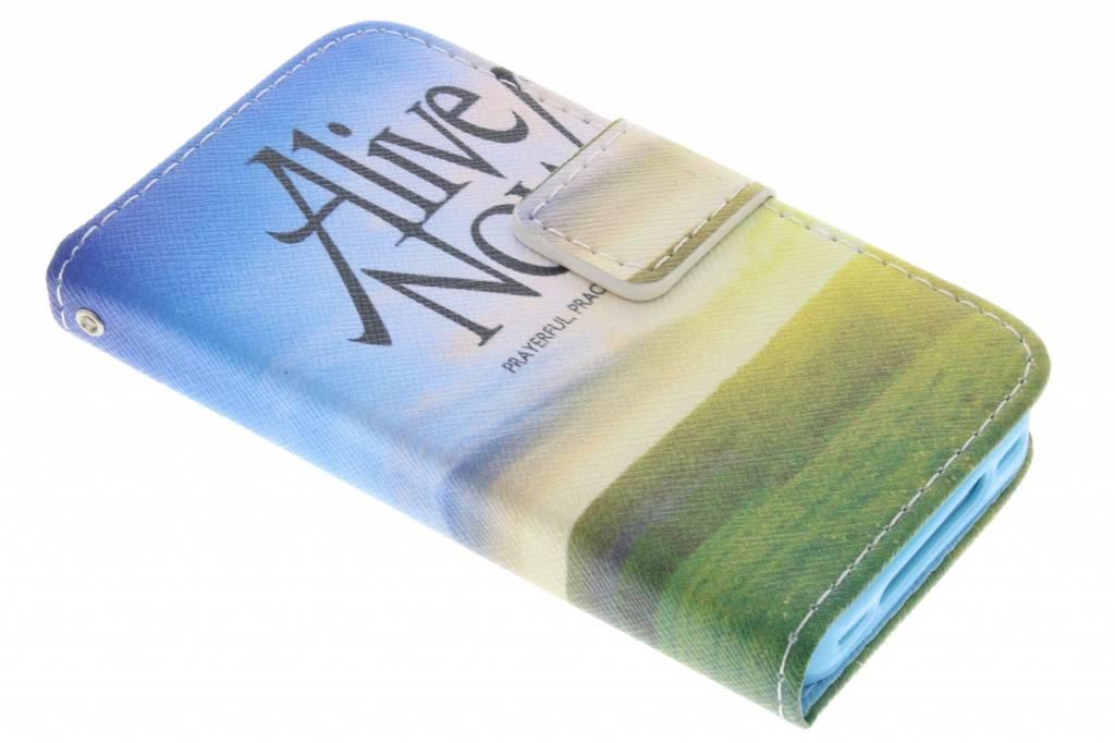 Alive now design TPU booktype hoes voor de iPhone 4 / 4s