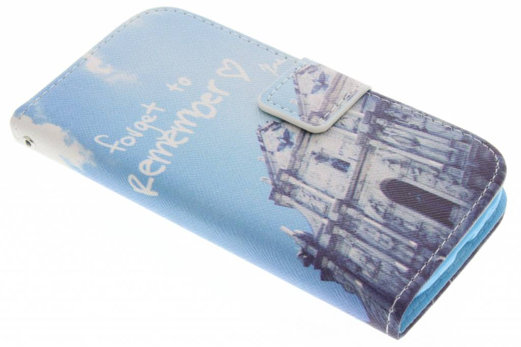 Forget to remember design TPU booktype hoes voor de Samsung Galaxy S3 / Neo