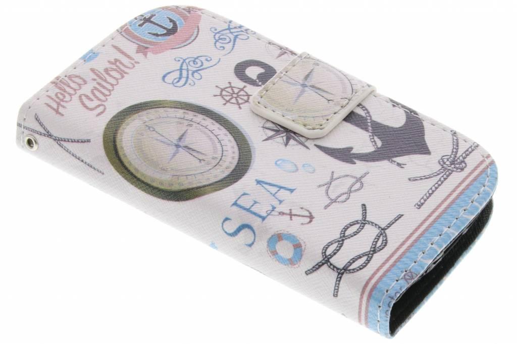 Sailor design TPU booktype hoes voor de Samsung Galaxy S3 Mini