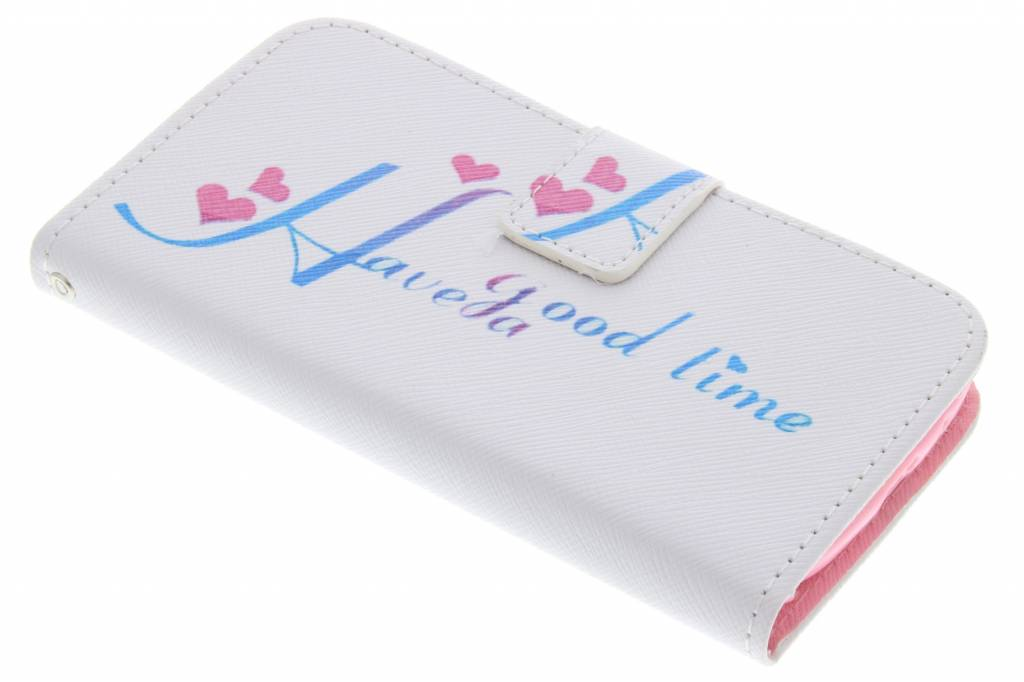 Have a good time design TPU booktype hoes voor de Samsung Galaxy S3 / Neo