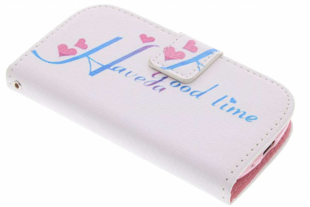 Have a good time design TPU booktype hoes voor de Samsung Galaxy S3 Mini