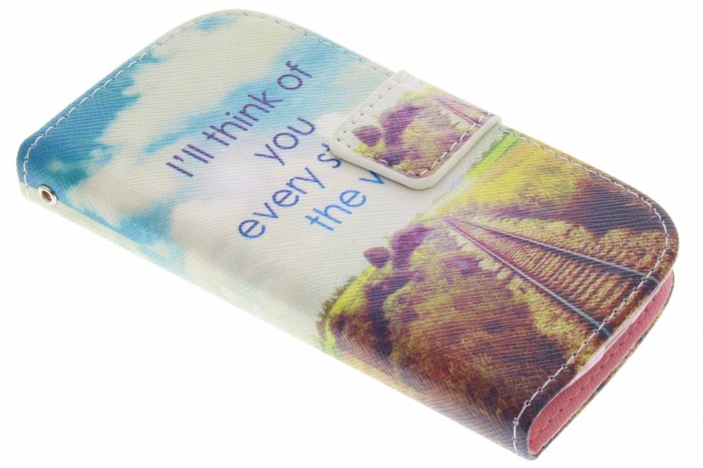 Think of you design TPU booktype hoes voor de Samsung Galaxy S3 Mini