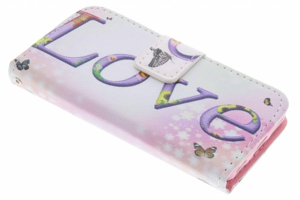 Love design TPU booktype hoes voor de iPhone 5c