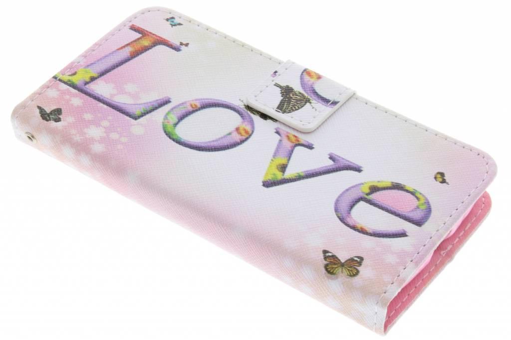 Love design TPU booktype hoes voor de Samsung Galaxy S3 / Neo