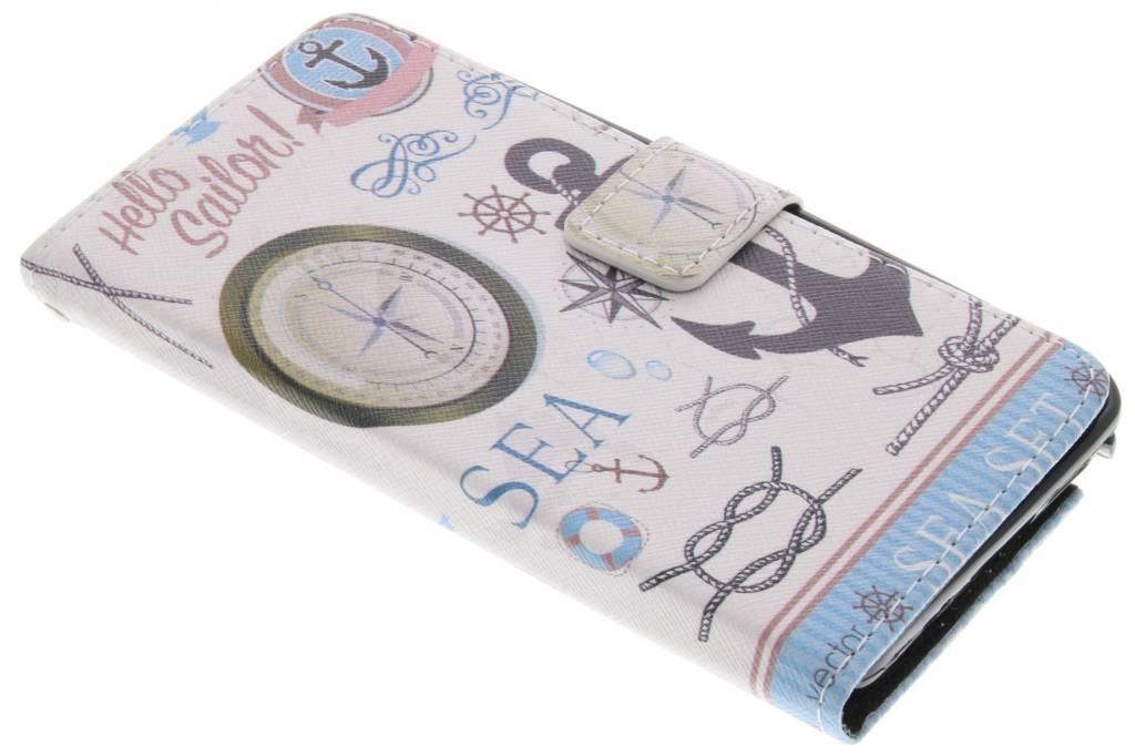 Sailor design TPU booktype hoes voor de Samsung Galaxy Note 3