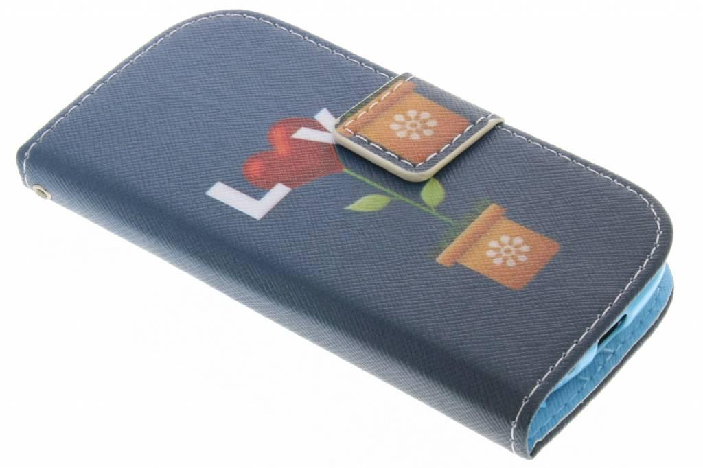Love design TPU booktype hoes voor de Samsung Galaxy S3 Mini